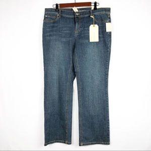 LIZ CLAIBORNE Slim Bootcut Jeans NWT in Size 16P